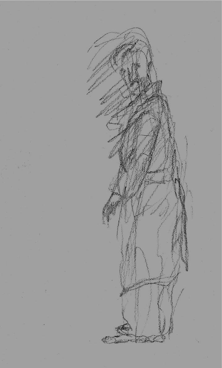 quick sketch of a man